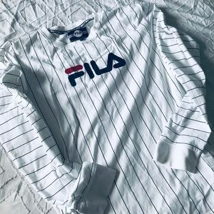 Fila Long Sleeve Pin Striped Shirt